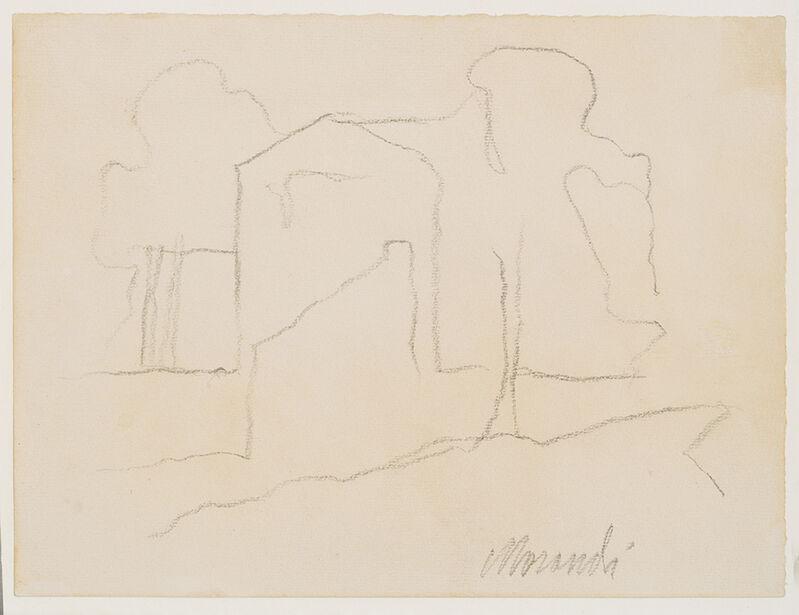 Giorgio Morandi, 'Paesaggio', 1961, Drawing, Collage or other Work on Paper, Pencil on paper, Repetto Gallery