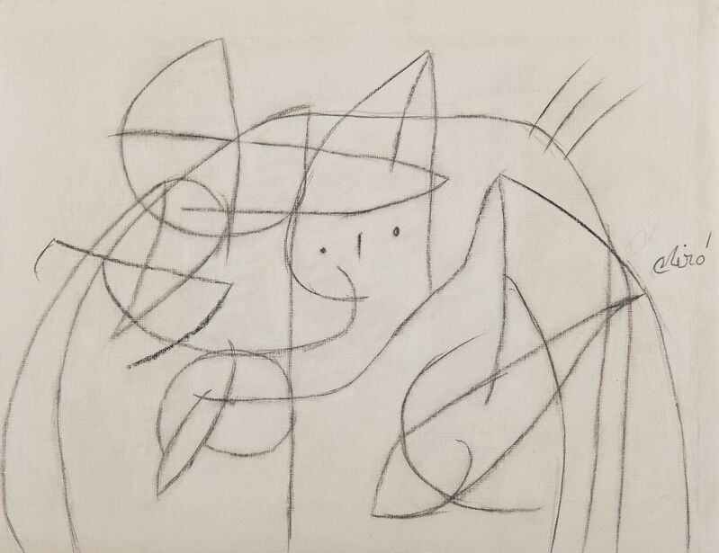 Joan Miró, 'Femme', 1976, Drawing, Collage or other Work on Paper, Pencil on paper, HELENE BAILLY GALLERY