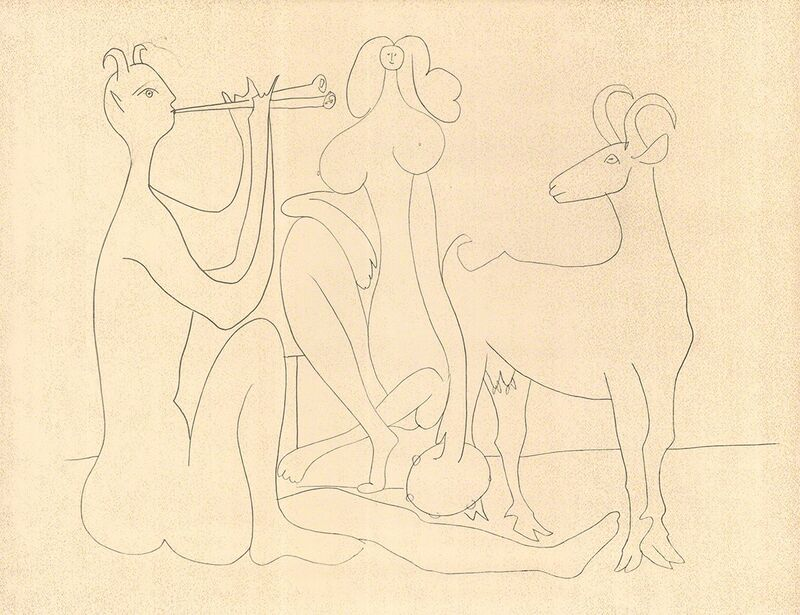 Pablo Picasso, 'Mes Dessins D'Antibes', 1958, Print, Stone Lithograph, ArtWise