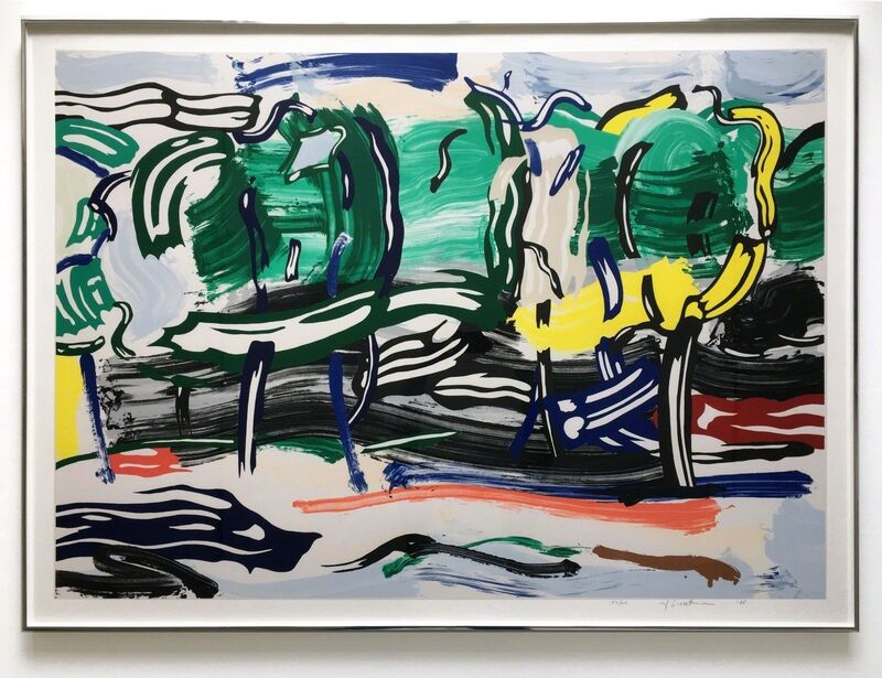 Roy Lichtenstein, 'Road Before the Forest', 1985, Print, Lithograph, woodcut, and screenprint on Arches 88 paper, Georgetown Frame Shoppe