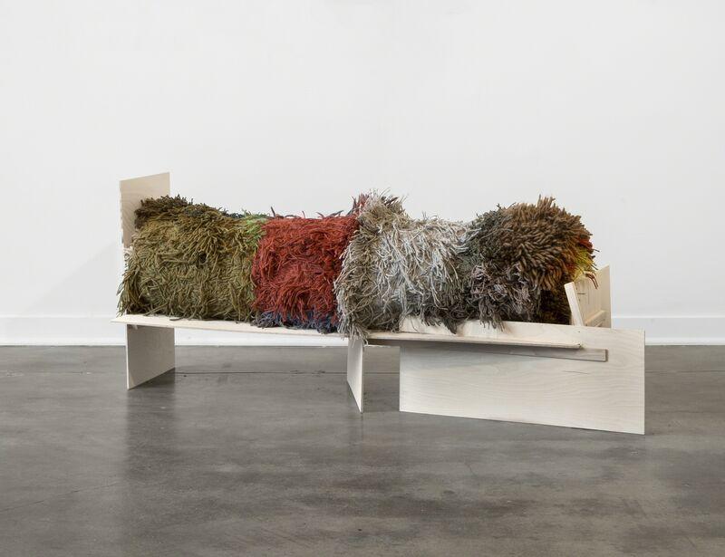 Iris Eichenberg, '#8', 2017, Sculpture, Wood and wool, Simone DeSousa Gallery