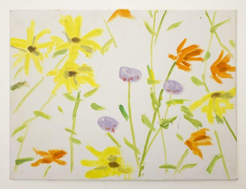 Alex Katz, 'Flowers 3', 2010, Painting, Oil on board, Peter Blum Gallery