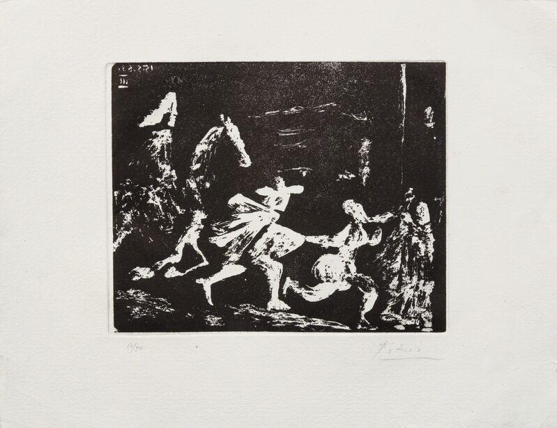 Pablo Picasso, 'Cape et epee: Poursuite I ( from Series 347)', 1968, Print, Aquatint, Hindman