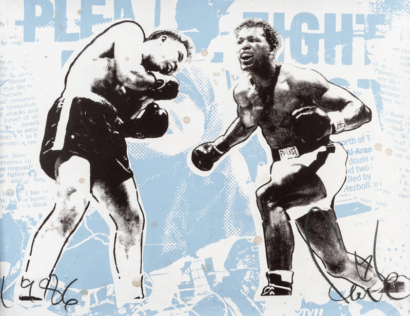 FAILE, 'Fight Vanity', 2008, Print, Acrylic and silkscreen ink on Archival 100LB paper, Tate Ward Auctions