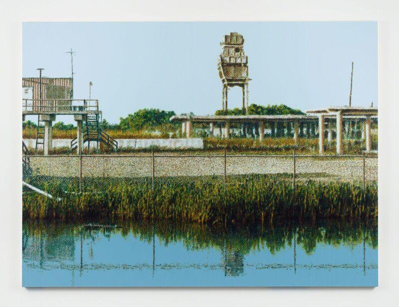 Wayne Gonzales, 'Chevron Plant Ruin, Bayou La Loutre, near Yscloskey, Louisiana', 2018-2019, Painting, Acrylic on canvas, Stephen Friedman Gallery