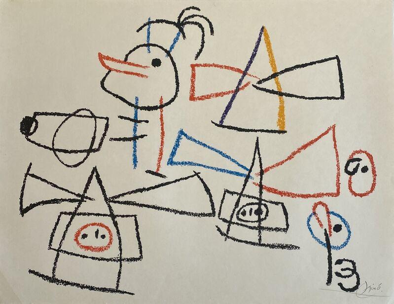 Joan Miró, 'Ubu aux Baleares II', 1971, Print, Lithograph on Japon Paper, Denis Bloch Fine Art