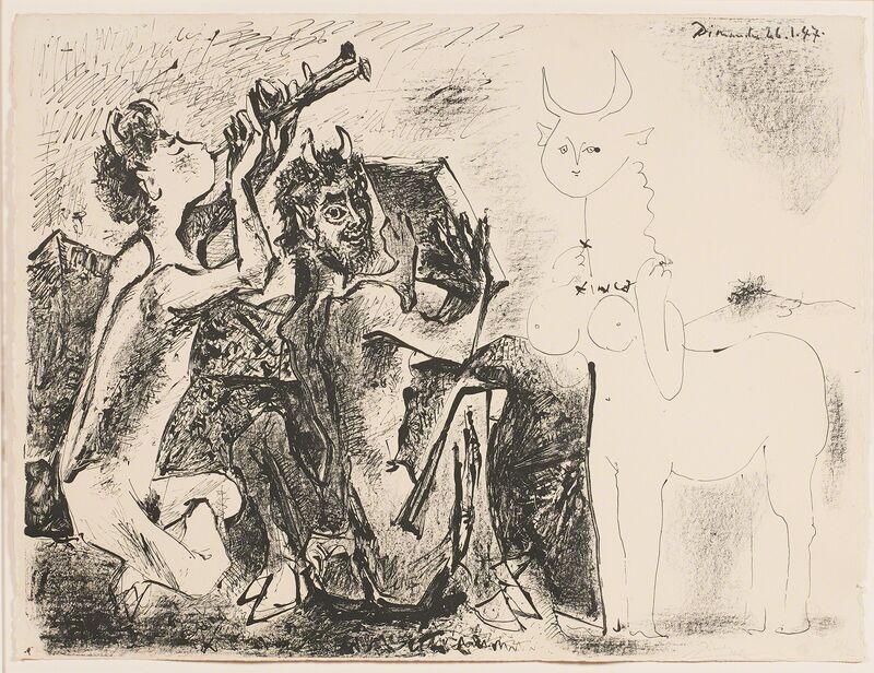 Pablo Picasso, 'Les Faunes et la Centauresse', 1947, Print, Lithograph on Arches paper (framed), Rago/Wright