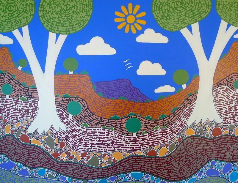 Walangari Karntawarra, 'My Desert Country', Painting, Acrylic on Canvas, RLS Gallery