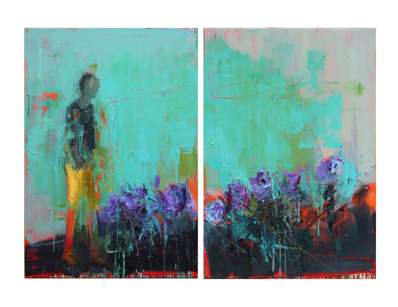 Henry Jabbour, 'It Feels Like Hope', 2020, Painting, Oil on linen - Diptych, Pontone Gallery