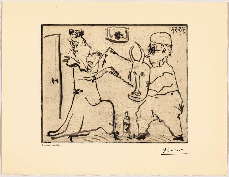 Pablo Picasso, 'Histoire de Sarbatés et de sa voisine: les banderilles', 1957, Print, Aquatint, Koller Auctions