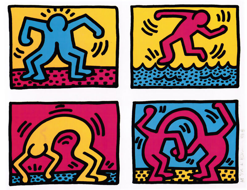 Keith Haring, 'Pop Shop Quad II', 1988, Print, Silkscreen on paper, Taglialatella Galleries