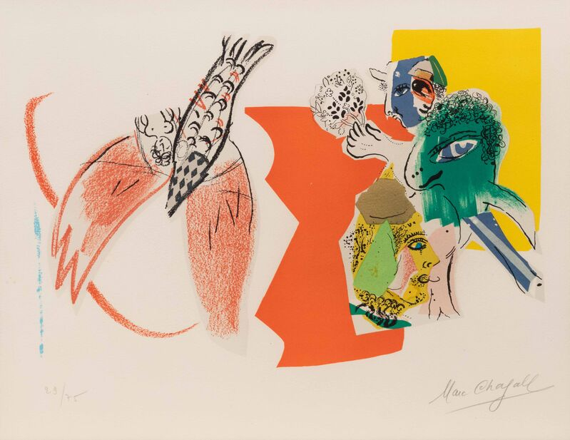 Marc Chagall, 'Composition for XXe Siecle', 1966, Print, Color lithograph, Hindman