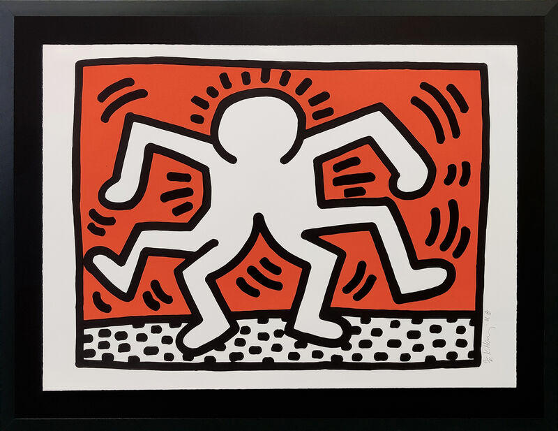 Keith Haring, 'DOUBLE MAN', 1986, Print, LITHOGRAPH, Gallery Art