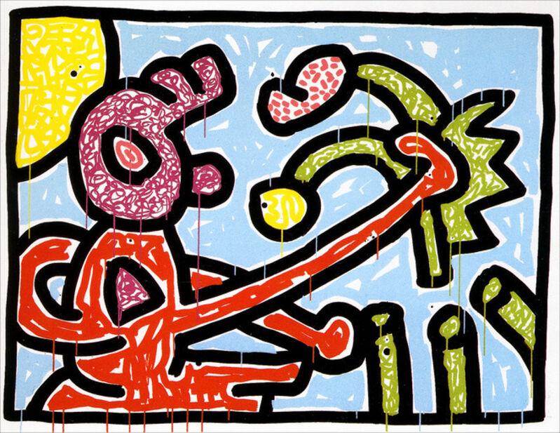 Keith Haring, 'Flowers I', 1990, Print, Silkscreen on paper, Taglialatella Galleries