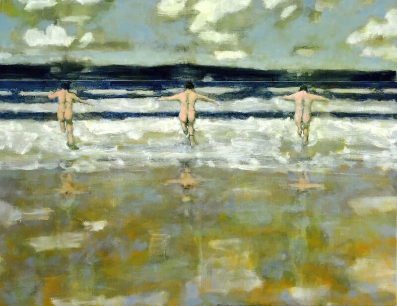 David Konigsberg, 'Wave Jumpers ', 2016, Painting, Oil on canvas, Kenise Barnes Fine Art