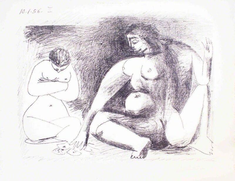 Pablo Picasso, 'Deux Femmes Accroupies', 1956, Print, Lithograph, Wallector