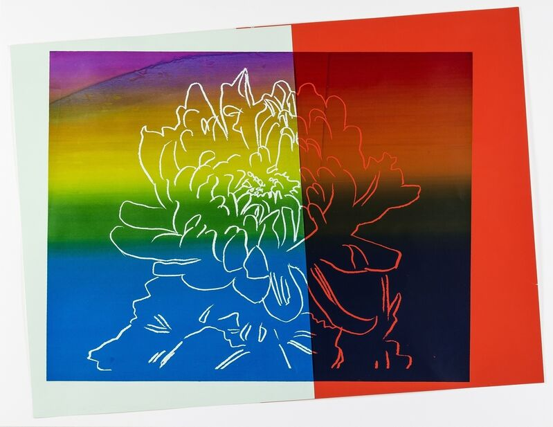 Andy Warhol, 'Kiku', c. 1983, Mixed Media, Silkscreen ink and paper collage on board, Forum Auctions