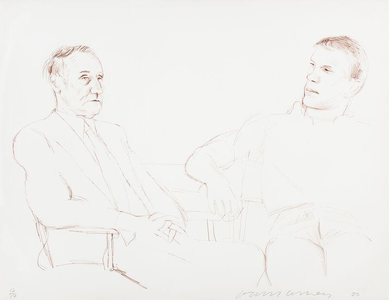 David Hockney, 'Bill and James II', 1980-1995, Print, Lithograph, Galerie Lelong & Co.