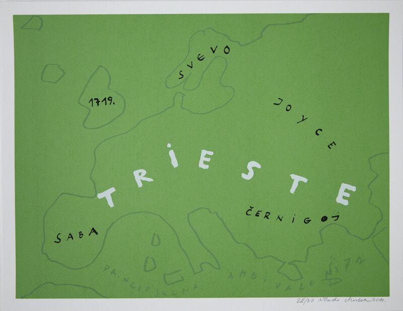 Vlado Martek, 'Europa-Trieste (Europe - Trieste)', 2011, Print, Screen print, Aanant & Zoo