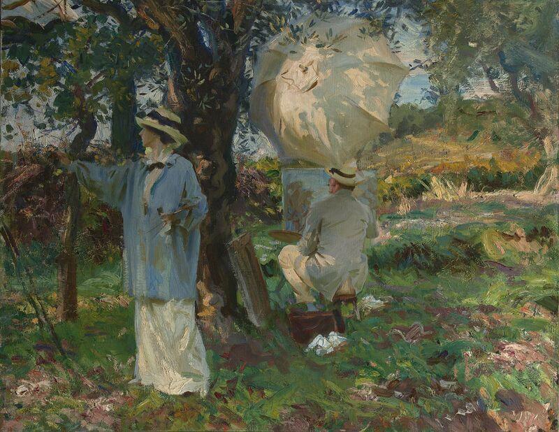 John Singer Sargent, 'The Sketchers', 1913, Painting, Oil on  canvas, de Young Museum