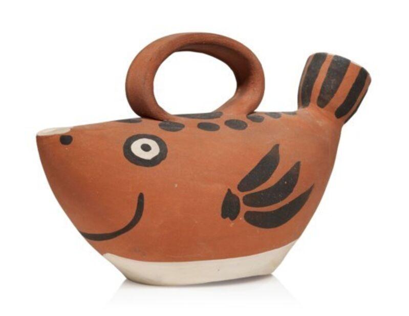 Pablo Picasso, 'Madoura Ceramic Pitcher - Sujet poisson, Ramié 139', Mid-20th Century, Sculpture, Ceramic, Hirth Fine Art