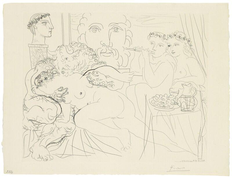 Pablo Picasso, 'Minotaure caressant une femme, from: La Suite Vollard', 1933, Print, Etching on Montval laid paper, Christie's