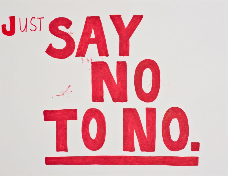 Jim Torok, 'Just Say No', 2015, Drawing, Collage or other Work on Paper, Ink on paper, Lora Reynolds Gallery