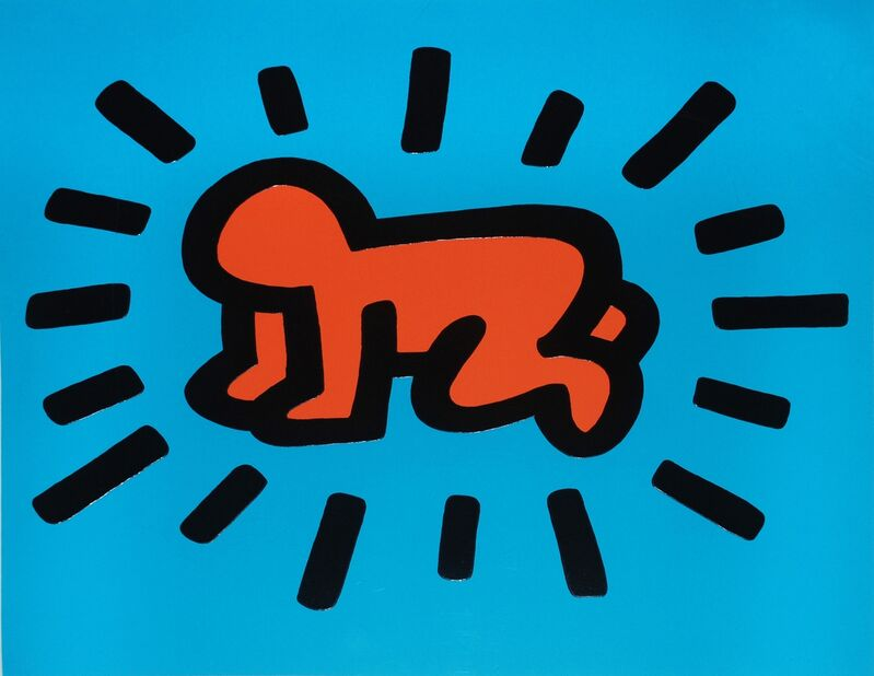 Keith Haring, 'Untitled (from the Icons series), Radiant Baby', 1990, Print, Silkscreen Print on Paper, Gallery Red