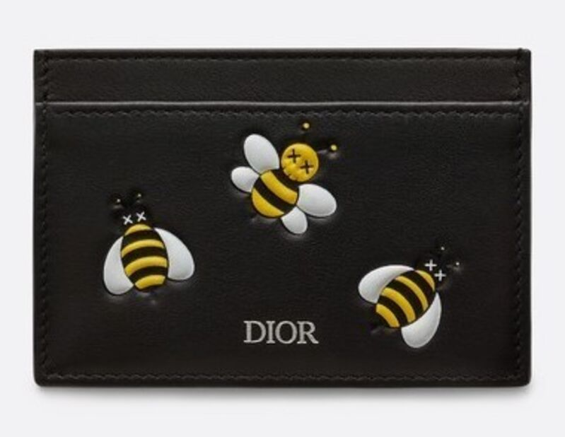 KAWS, 'Bees Card Holder', 2018, Fashion Design and Wearable Art, Black smooth calf printed bees yellow, black and white all-over, Dope! Gallery