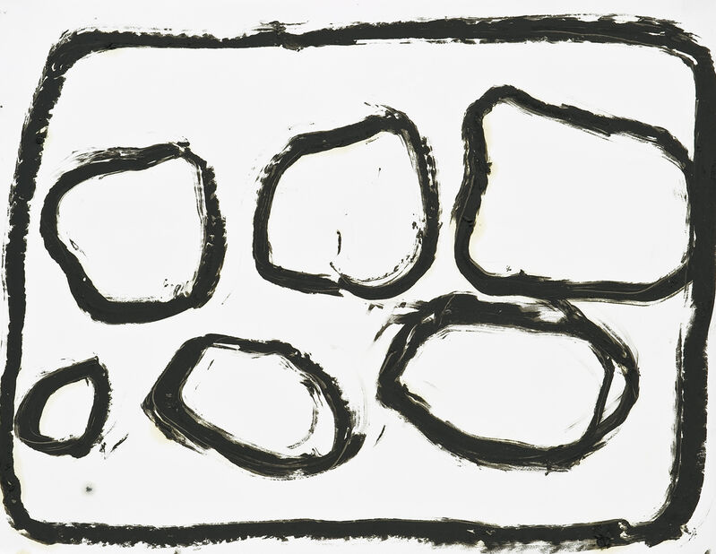 Jannis Kounellis, 'Untitled (Piombo)', 2008, Drawing, Collage or other Work on Paper, Oil pastel on paper, Galerie Lelong & Co.