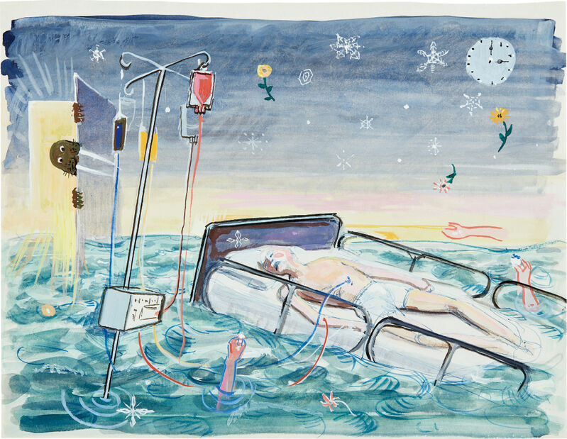 Frank Moore, 'Study for Beacon I', 1998, Drawing, Collage or other Work on Paper, Ballpoint pen, gouache and watercolor on paper, Phillips