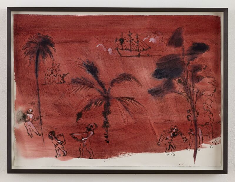 Kara Walker, 'West Indies', 2014, Drawing, Collage or other Work on Paper, Watercolor on paper, Sikkema Jenkins & Co.