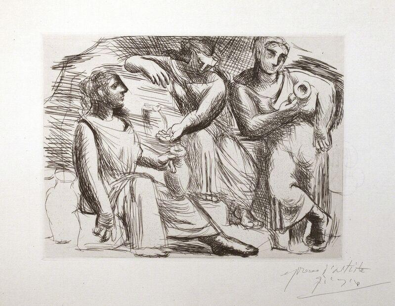 Pablo Picasso, 'La Source (Trois femmes à la fontaine)', 1921, Print, Drypoint and engraving, R. S. Johnson Fine Art