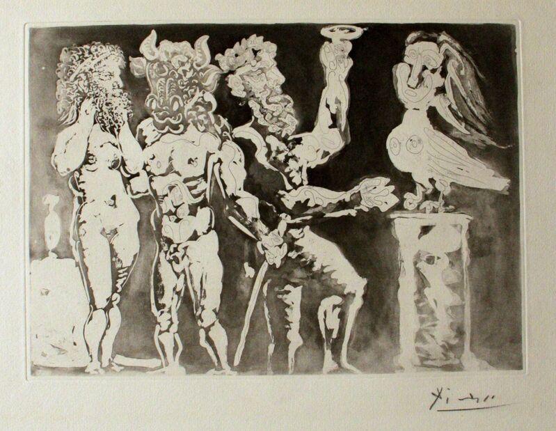 Pablo Picasso, 'Personnages Masqués et Femme Oiseau', 1934, Print, Etching, Wallector