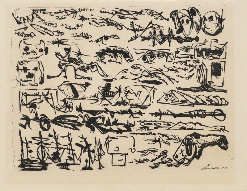 David Smith (1906-1965), 'A Letter', 1952, Print, Lithograph, Susan Sheehan Gallery