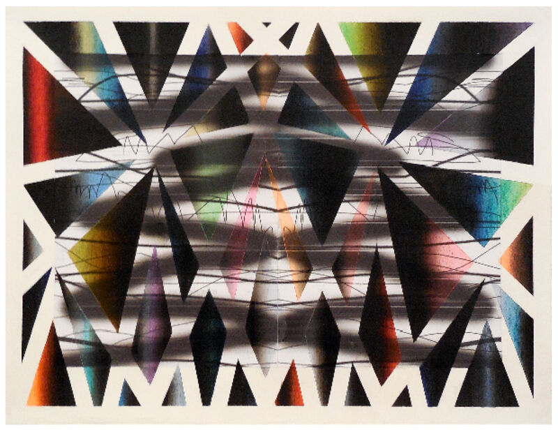 Anne Wölk, 'Composition 3 (variation on window theme)', 2014, Drawing, Collage or other Work on Paper, B&W Print & chalk pastels on paper, Alfa Gallery