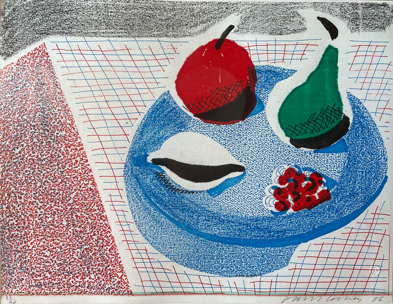 David Hockney, 'The Round Plate, April 1986',  1986, Print, Home made print executed on an office colour copy machine, on Arches rag paper, RAW Editions