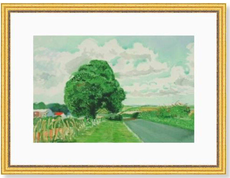 David Hockney, 'Road and Tree Near Wetwang ', 2004, Print, Accent Fresco (Gesso), textured uncoated paper, manufactured from 100% ECF virgin (Elemental Chlorine Free) fibre. FSC Certified. Acid Free, Modern-Originals