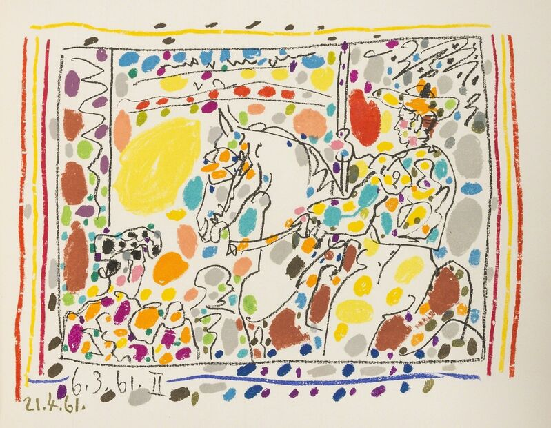 Pablo Picasso, 'Jamie Sebartes. A los Toros Mit Picasso (Bloch 1014-47; Cramer 113)', 1961, Books and Portfolios, The book, comprising 4 lithographs, one printed in colours, Forum Auctions