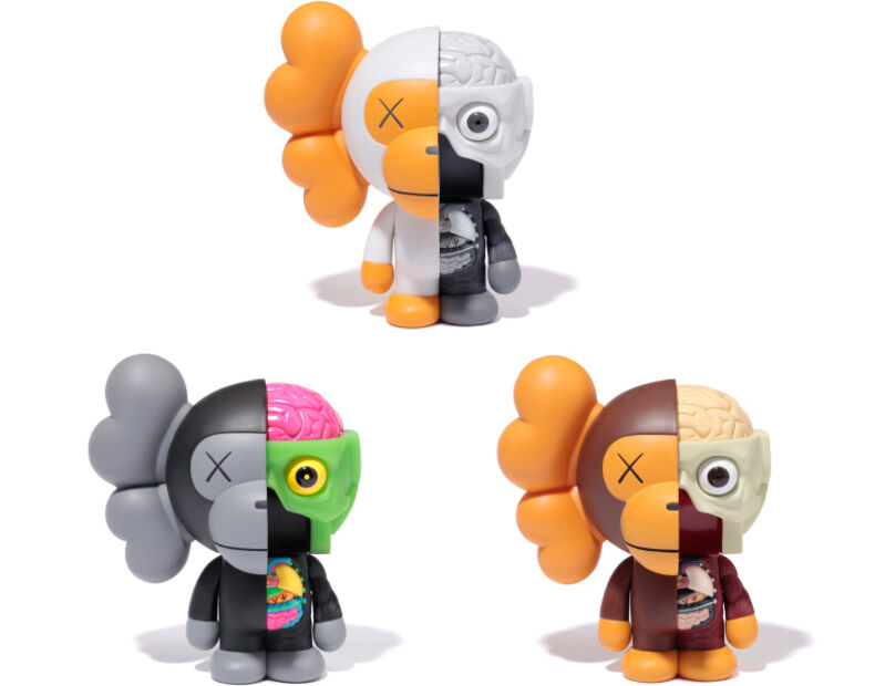 KAWS, 'Dissected Milo (Set of Three)', 2011, Sculpture, Painted Cast Vinyl, Lougher Contemporary