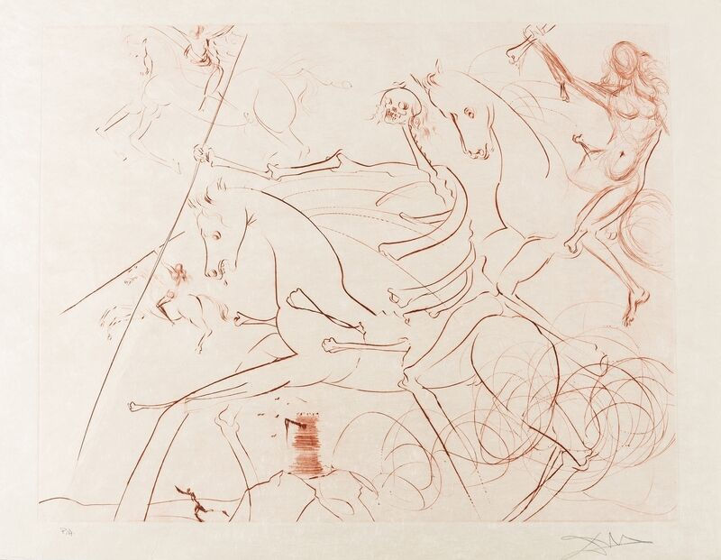 Salvador Dalí, 'Apocalyptische Reiter (Field 74-18; M&L 722c)', 1974, Print, Etching in sepia, Forum Auctions