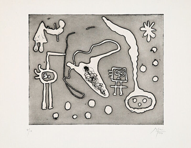 Joan Miró, 'aus Serie II', 1947, Print, Aquatint etching, Galerie Boisseree