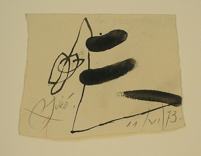 Joan Miró, 'Untitled', 1973, Drawing, Collage or other Work on Paper, Mixed media drawing, Nicholas Gallery