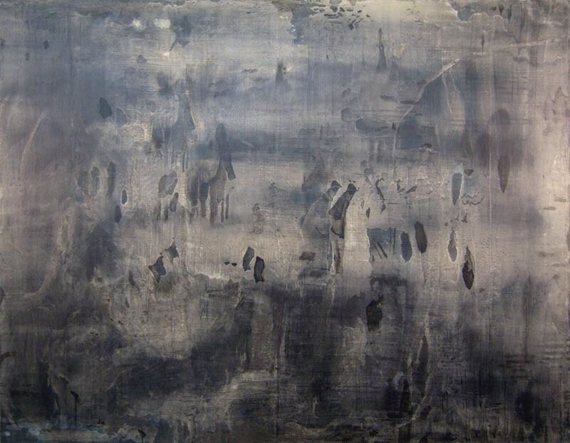 Sungyee Kim, 'Stone Field', 2007, Painting, Sumi ink and mixed media on panel, Mindy Solomon Gallery