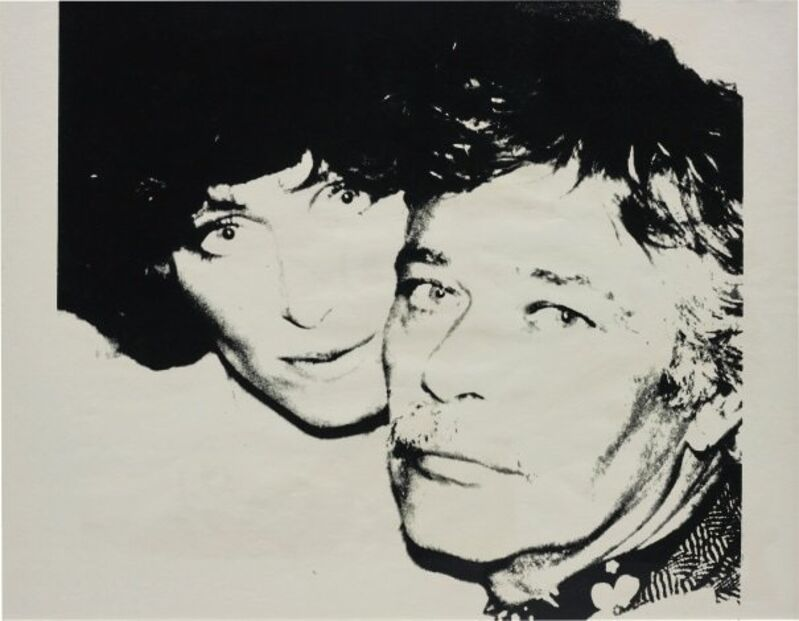 Andy Warhol, 'John & Lorraine Chamberlain (Unique- UP.45.12) (1978)', 1978, Print, Screenprint on Curtis Rag paper, Robin Rile Fine Art