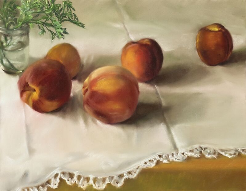 Mary Joan Waid, 'Pattie's Peaches', 2013, Drawing, Collage or other Work on Paper, Pastel on paper, Atrium Gallery