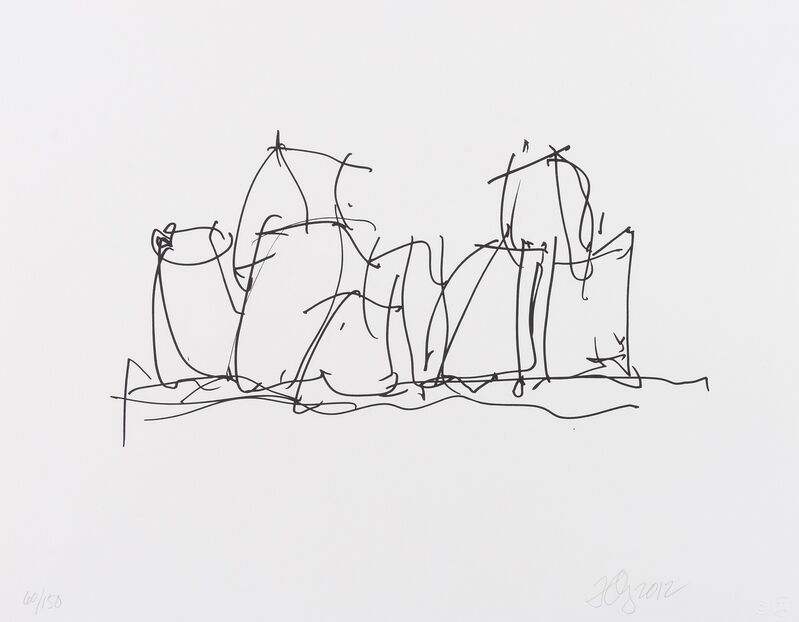 Frank Gehry, 'In Town', 2012, Print, Lithograph, Forum Auctions