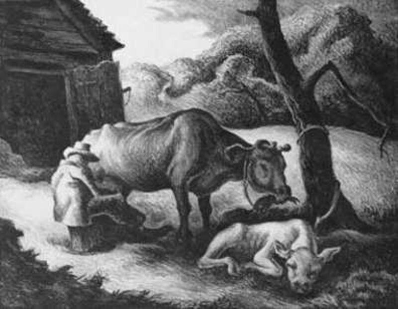 Thomas Hart Benton, 'White Calf', 1945, Print, Lithograph, Kiechel Fine Art