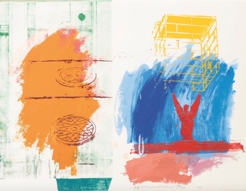 Robert Rauschenberg, 'For Channel 13', 1990, Print, Silkscreen printed in colors on white wove paper, World House Editions