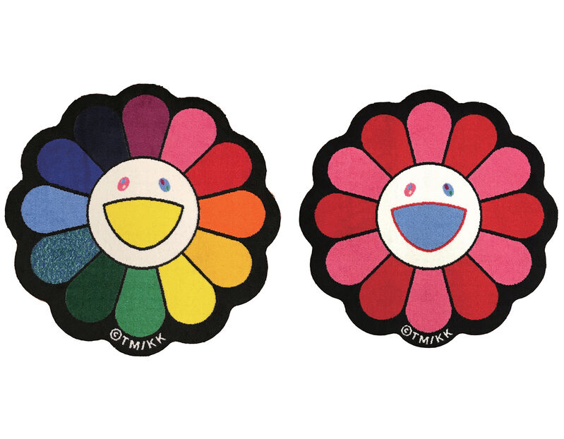 Takashi Murakami, 'Flower Floor Mat Set', Other, 100% Acrylic, Gin Huang Gallery Gallery Auction